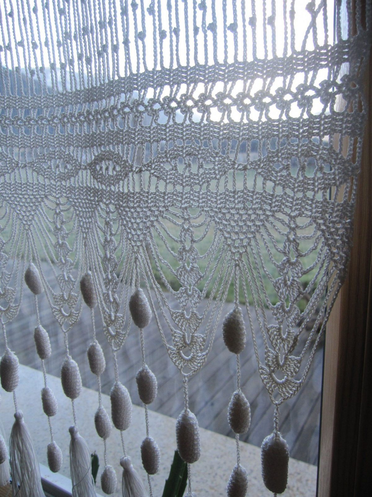 Gehäkelter Vorhang Curtain Pinterest Vorhänge Häkeln Und Gardinen