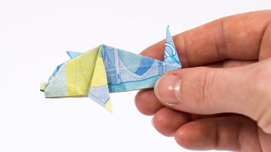 Geld Falten Delfin Einen Fisch Aus Einem Geldschein Falten  Youtube von Fisch Aus Geldschein Falten Photo