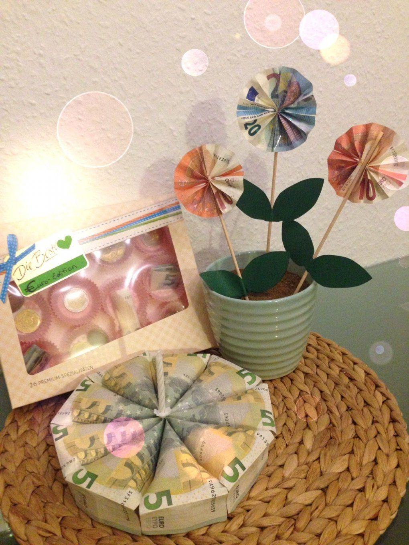 Geldgeschenk Blume Pralinen Torte  Geldgeschenke  Pinterest von Geldgeschenk Blume Im Topf Bild