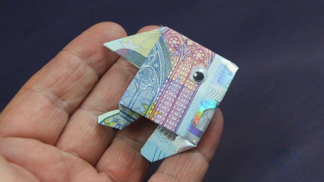 Geldgeschenk Fisch Aus Geldschein Falten  Florashopeu von Fisch Aus Geldschein Falten Bild