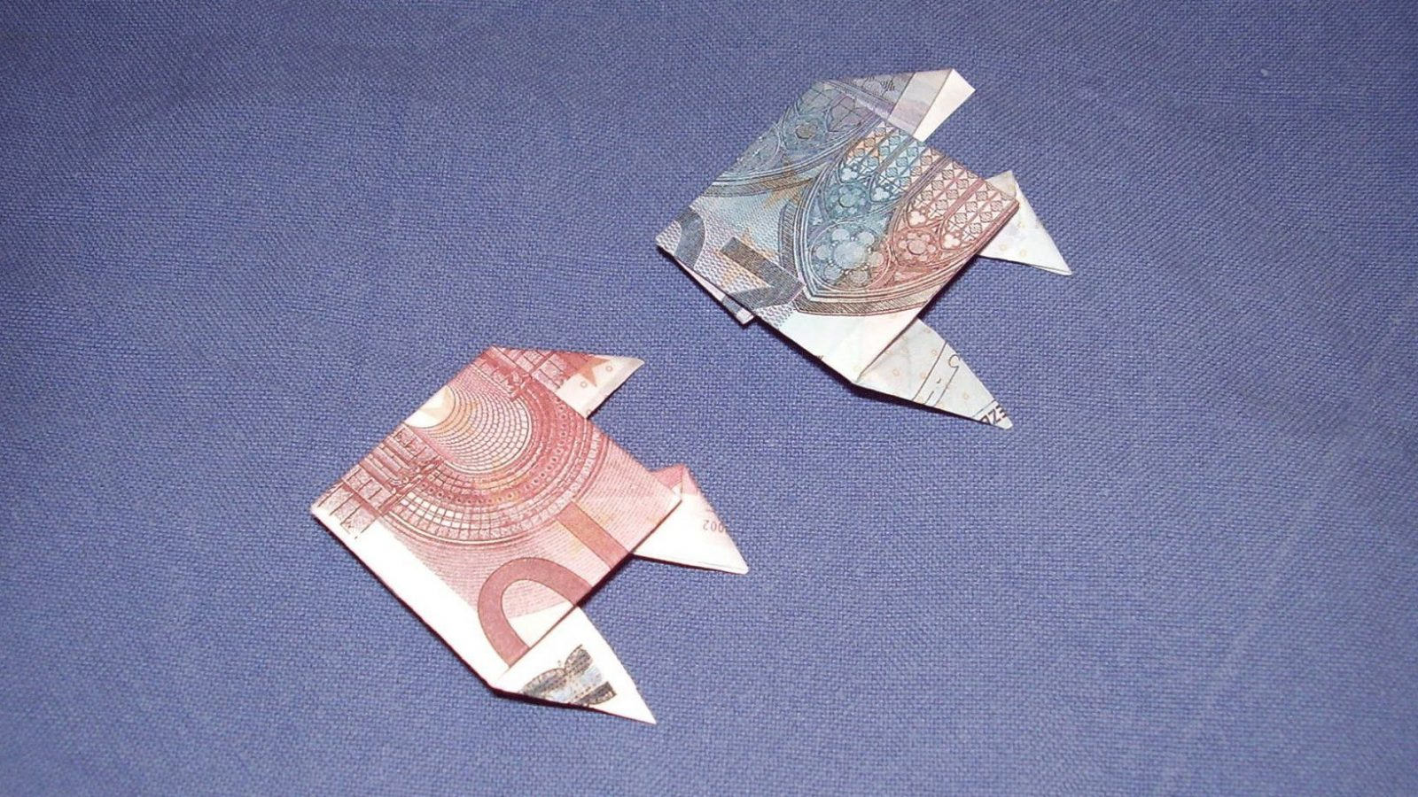 Geldgeschenke Geldschein Fisch Falten  Youtube von Fisch Aus Geldschein Falten Bild