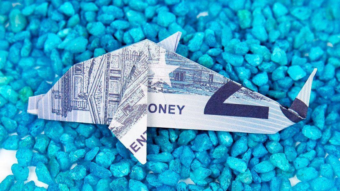 Geldschein Falten Fisch Origami Delfin Aus Geld Falten Anleitung von Fisch Aus Geldschein Falten Bild