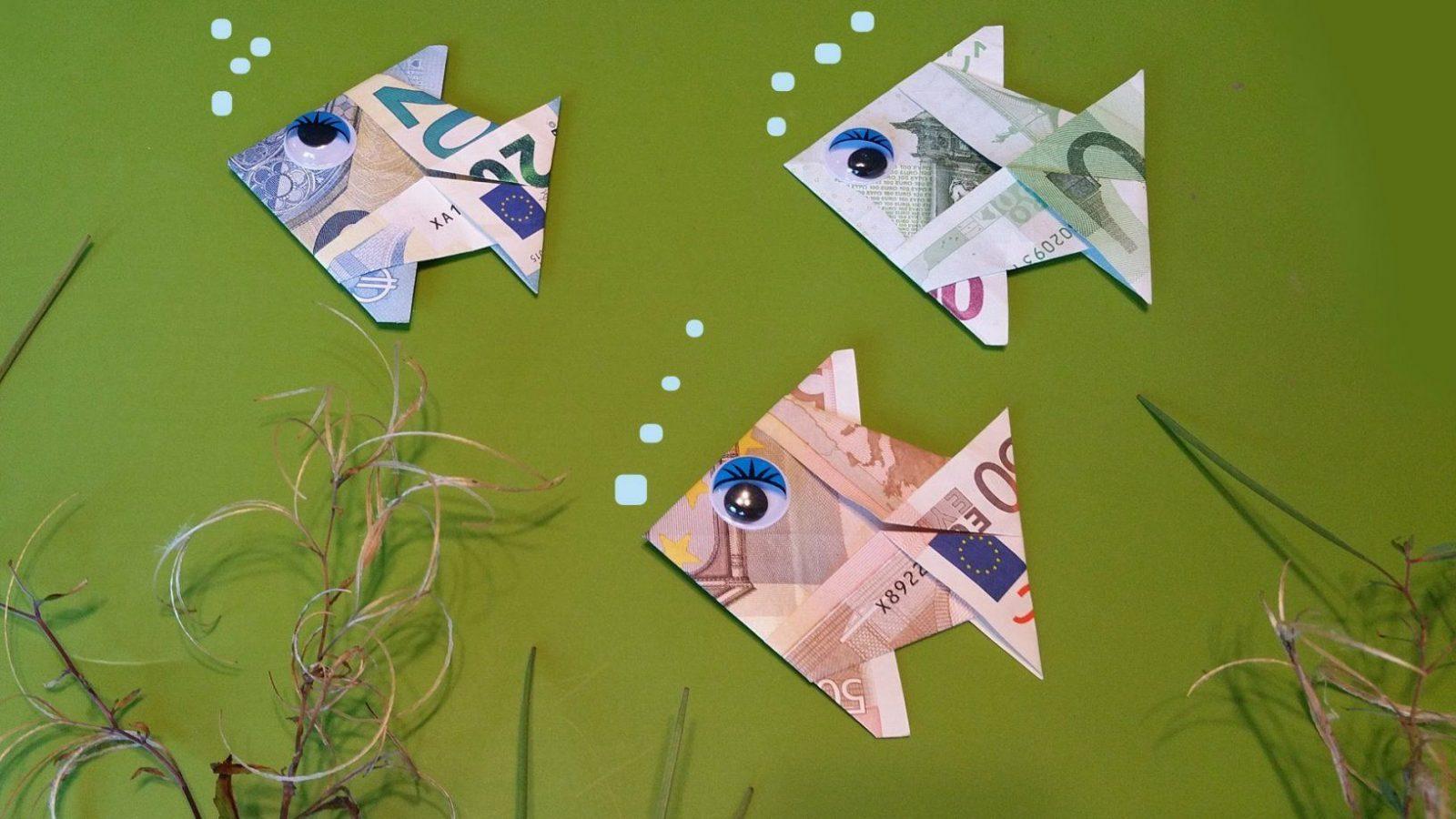 Geldschein Fisch Falten  Geldgeschenke + Anleitung Origami  Youtube von Fisch Aus Geldschein Falten Photo