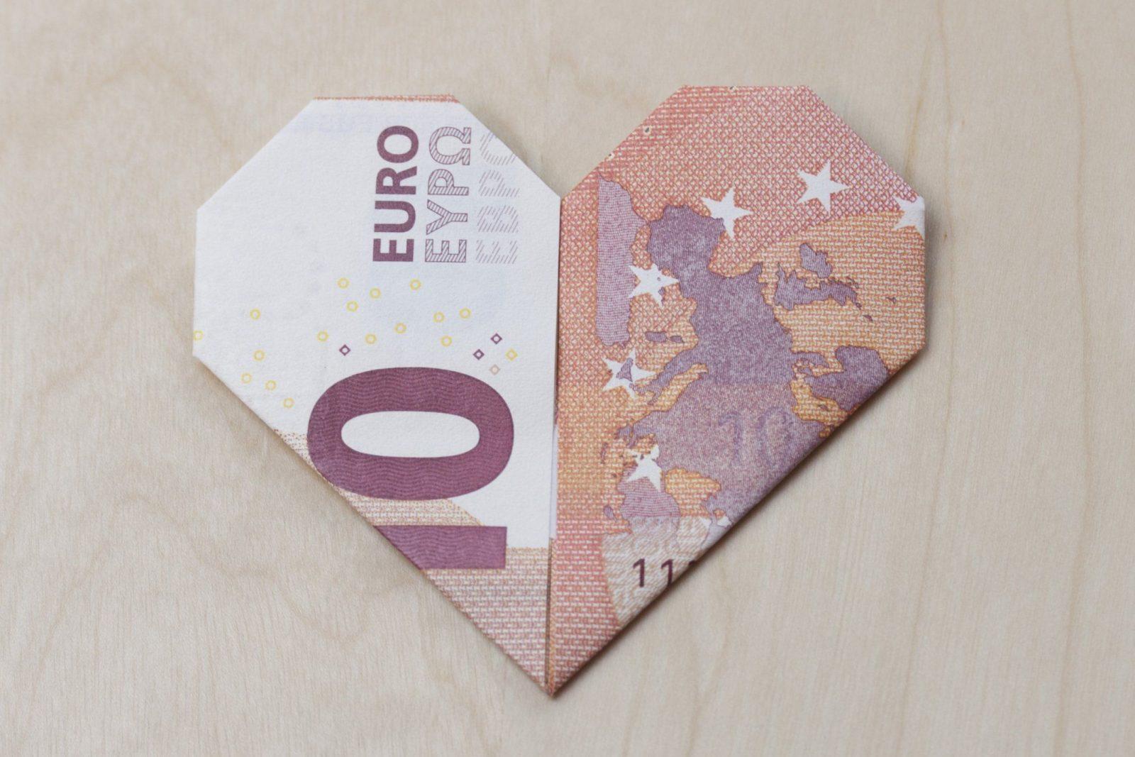 Geldschein Herz  Faltanleitung Mit Pdf von Geldschein Als Herz Falten Photo