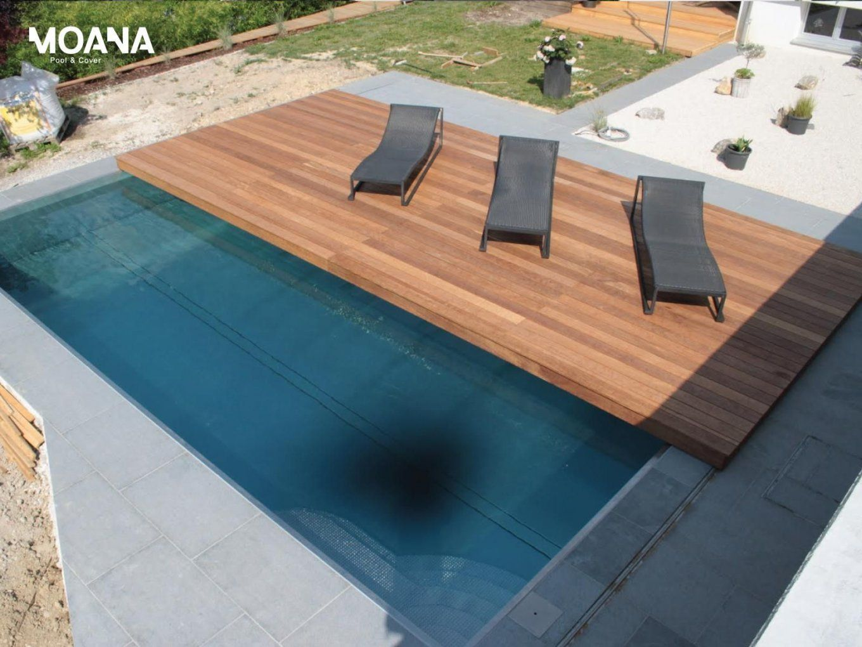 Geniale Idee Bewegliches Holzdeck Verdeckt Sicher Den Pool  Haus von Pool Deck Selber Bauen Photo