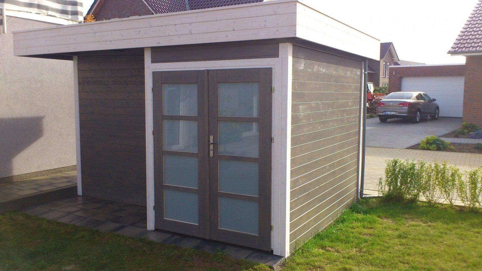 Geräteschuppen Mit Pultdach Inspirierend Gartenhaus Flachdach Selber von Gartenhaus Modern Selber Bauen Bild