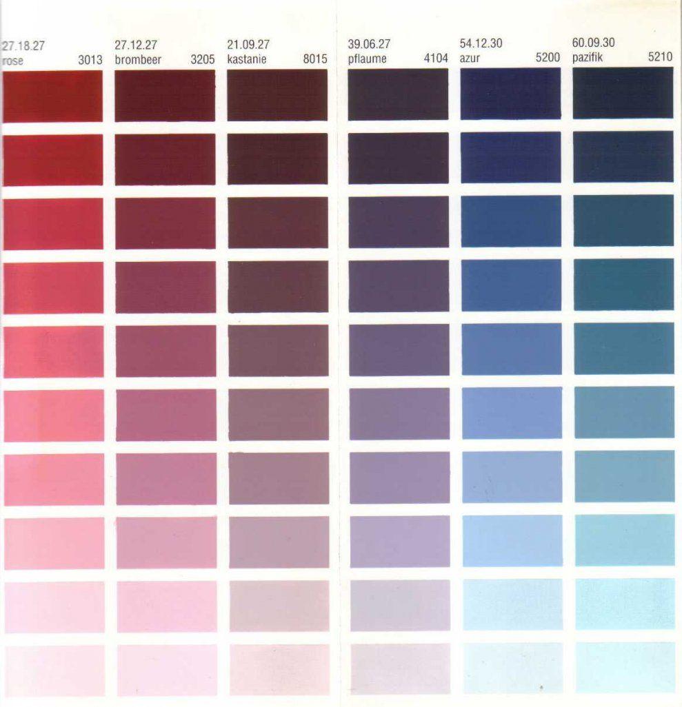 Glänzend Wandfarben Tabelle Farbtonkarte Bei Malermeister Tillmann von Wandfarben Selber Mischen Tabelle Photo