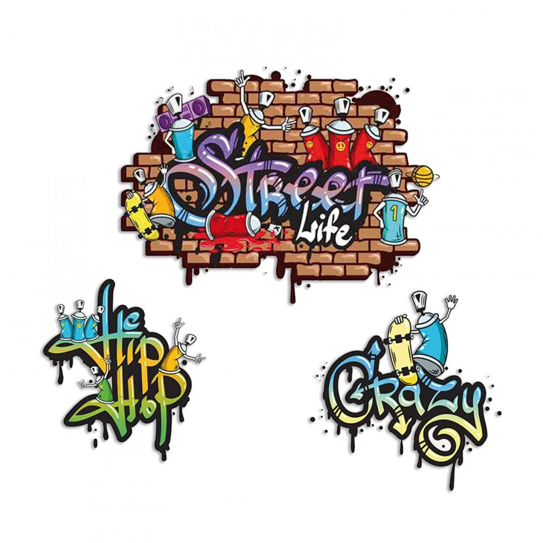 Graffiti Tapete Jugendzimmer Mit Wandtattoo Graffiti Selbstklebend von Wandtattoo Jugendzimmer Jungen Graffiti Bild