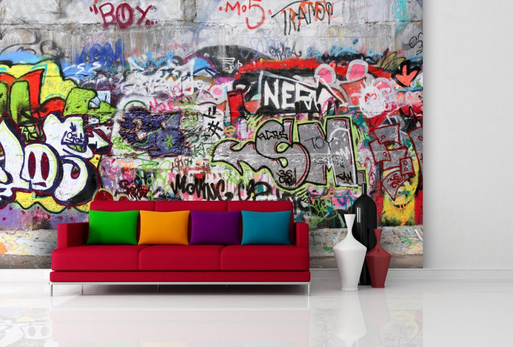 Graffiti Tapeten Günstig Online Kaufen  Real von Wandtattoo Jugendzimmer Jungen Graffiti Photo