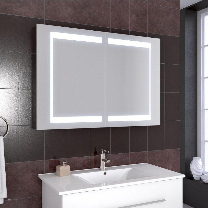 Großartig Badezimmer Spiegelschrank Mit Schubladen  Questsc von Bad Spiegelschrank Led Leuchte Bild