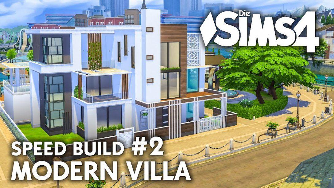 Grundriss  Die Sims 4 Haus Bauen  Modern Villa 2  Speed Build von Sims 4 Häuser Zum Nachbauen Bild