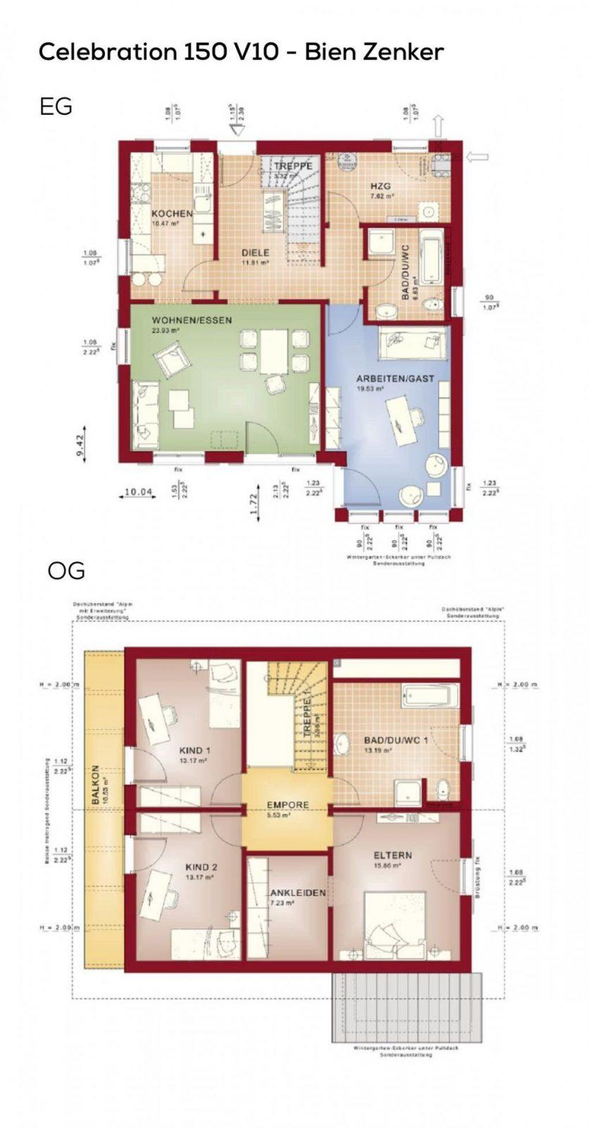 Grundriss Einfamilienhaus Im Landhausstil Mit Satteldach von Grundriss Einfamilienhaus 150 Qm Bild