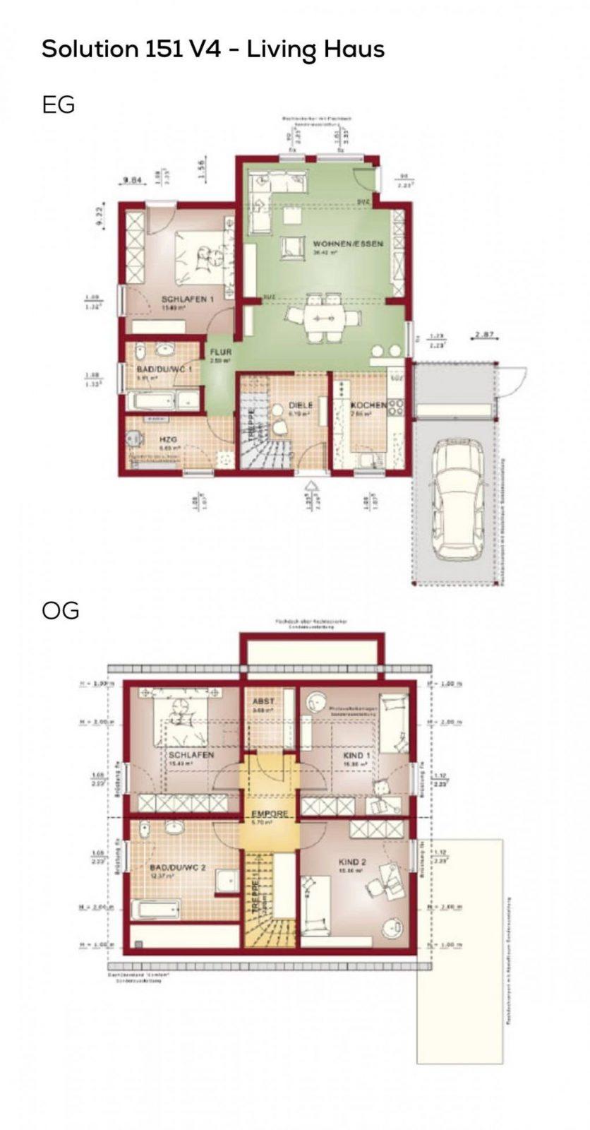Grundriss Einfamilienhaus Mit Satteldach 5 Zimmer 150 Qm Von