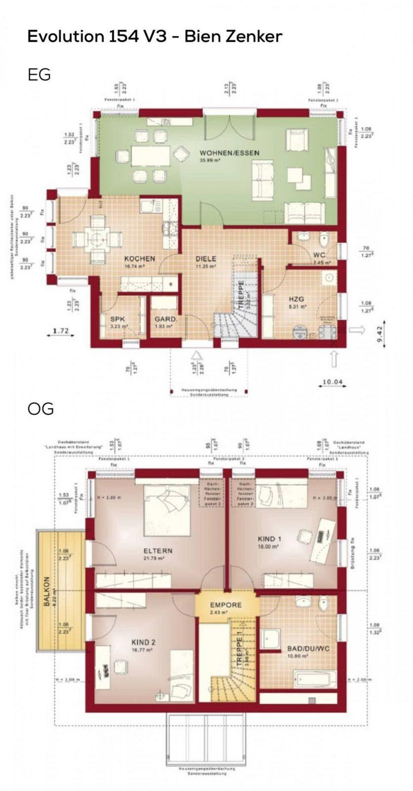Grundriss Einfamilienhaus Modern Mit Satteldach Architektur  4 von Grundriss Einfamilienhaus 150 Qm Bild