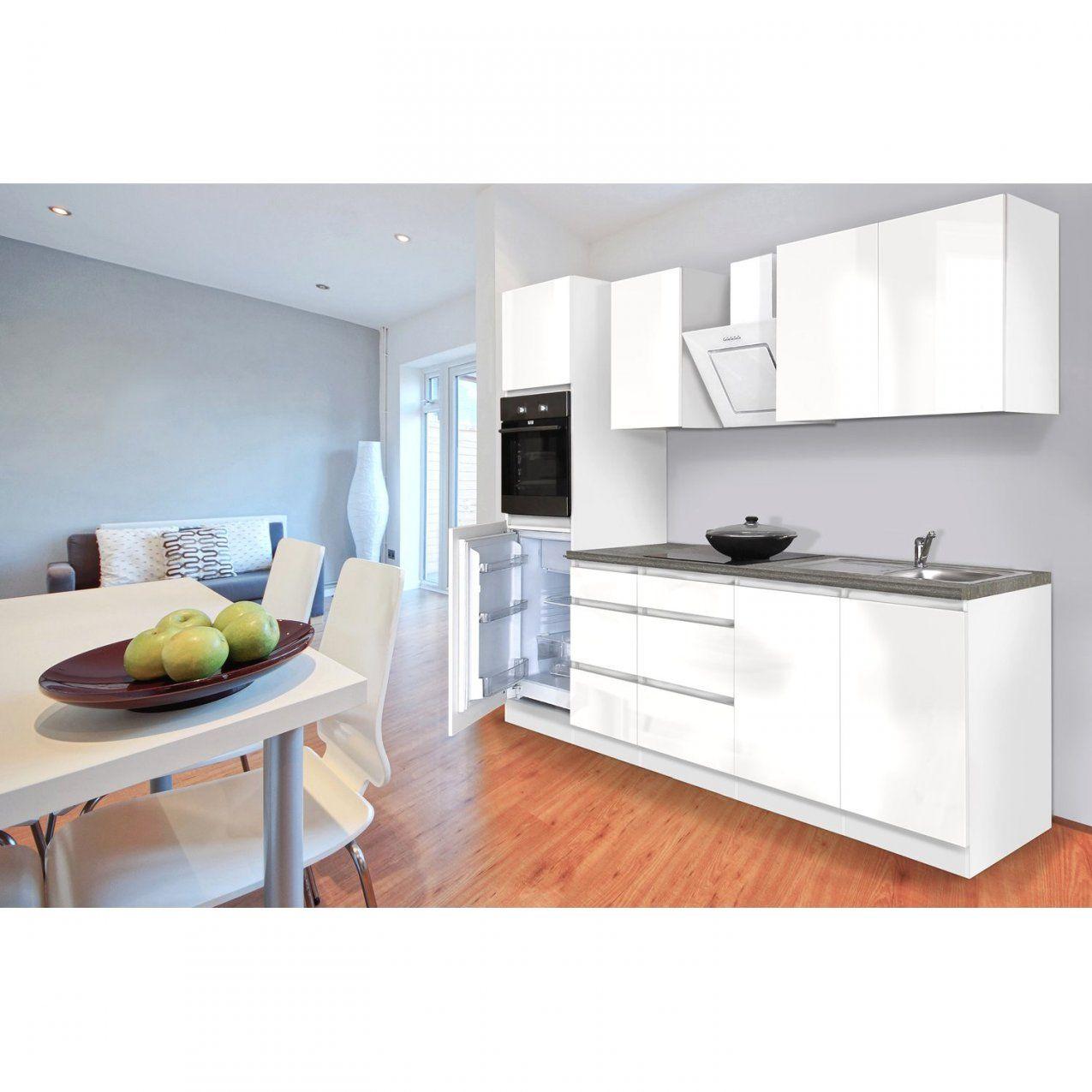 Günstige Ideen Küche 270 Und Brillant Respekta Küchenzeile von Küchenzeile Weiß Hochglanz Günstig Bild