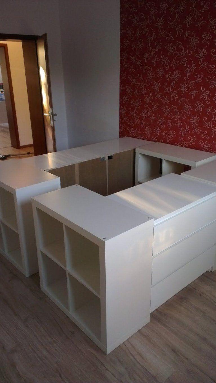 Half A Loft Bed  Bett Mit Stauraum Stauraum Und Ikea von Bett Bauen Mit Stauraum Photo