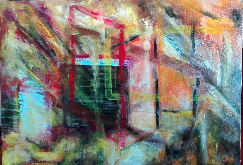 Handgemalte Bilder Auf Leinwand Windows Abstrakte Arbeit Von von Handgemalte Bilder Auf Leinwand Photo