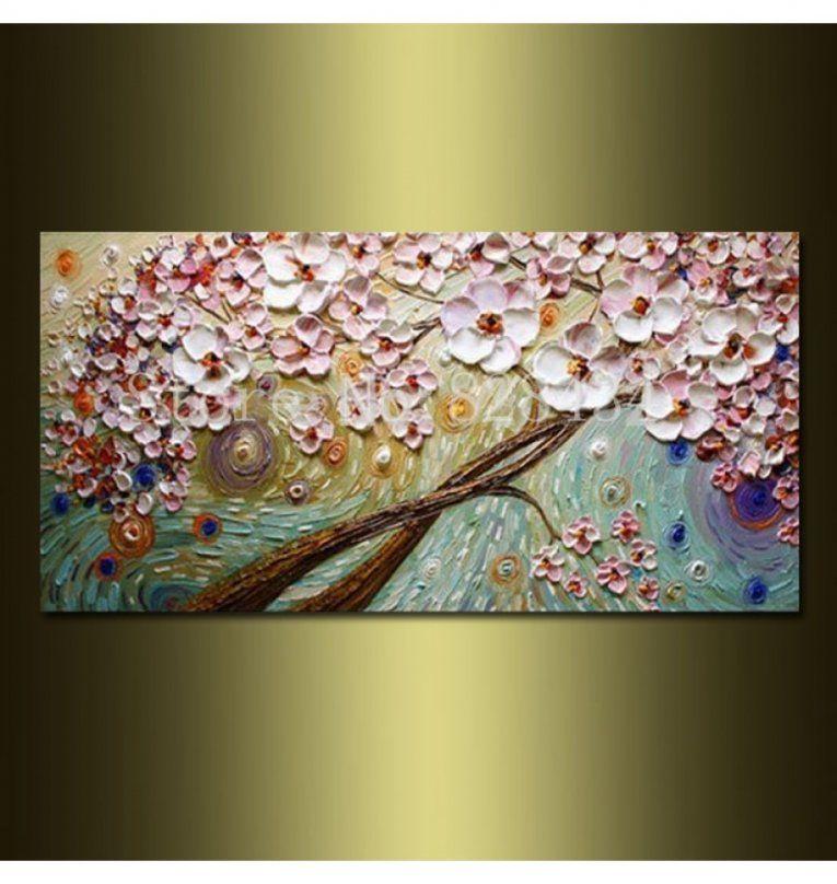 Handgemalte Oelgemaelde Auf Leinwand Blumen von Handgemalte Bilder Auf Leinwand Bild