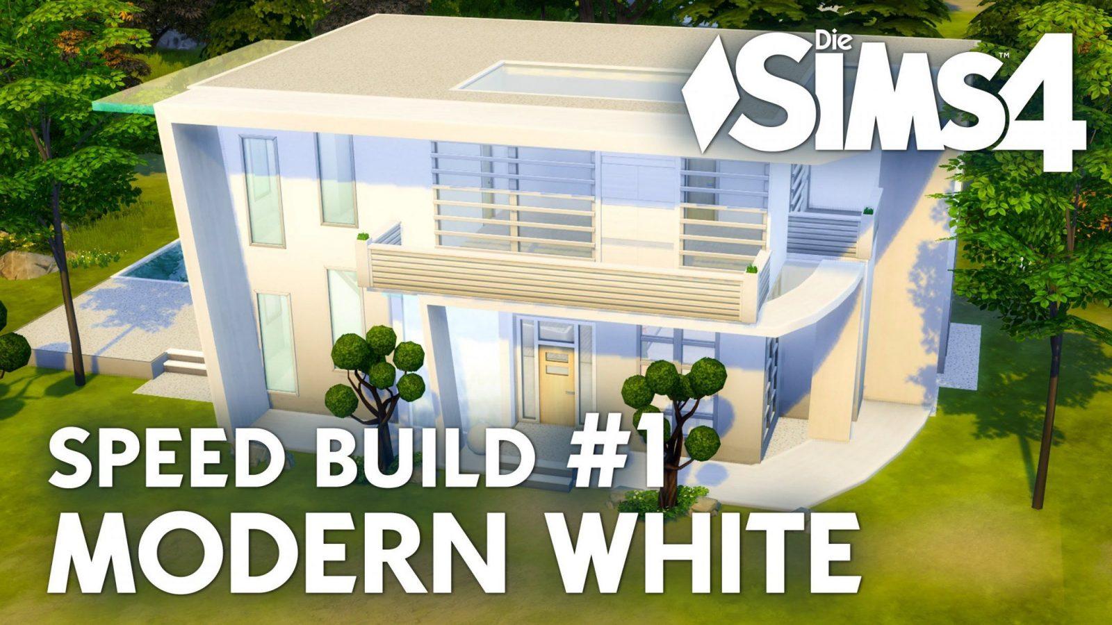 Haus Bauen  Die Sims 4 Modern White  Speed Build 1 Mit Grundriss von Sims 4 Häuser Zum Nachbauen Bild