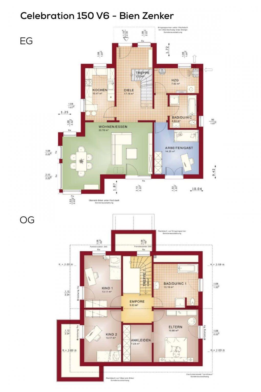 Haus Grundriss Mit Satteldach Und Erker Anbau Fertighaus 5 Zimmer