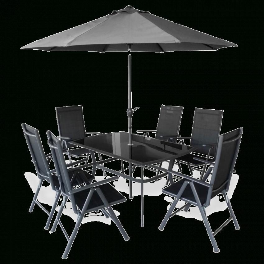 Hecht Garten Sitzgruppe Shadow Komplett Set (1X Gartentisch von Gartentisch Mit 6 Stühlen Photo