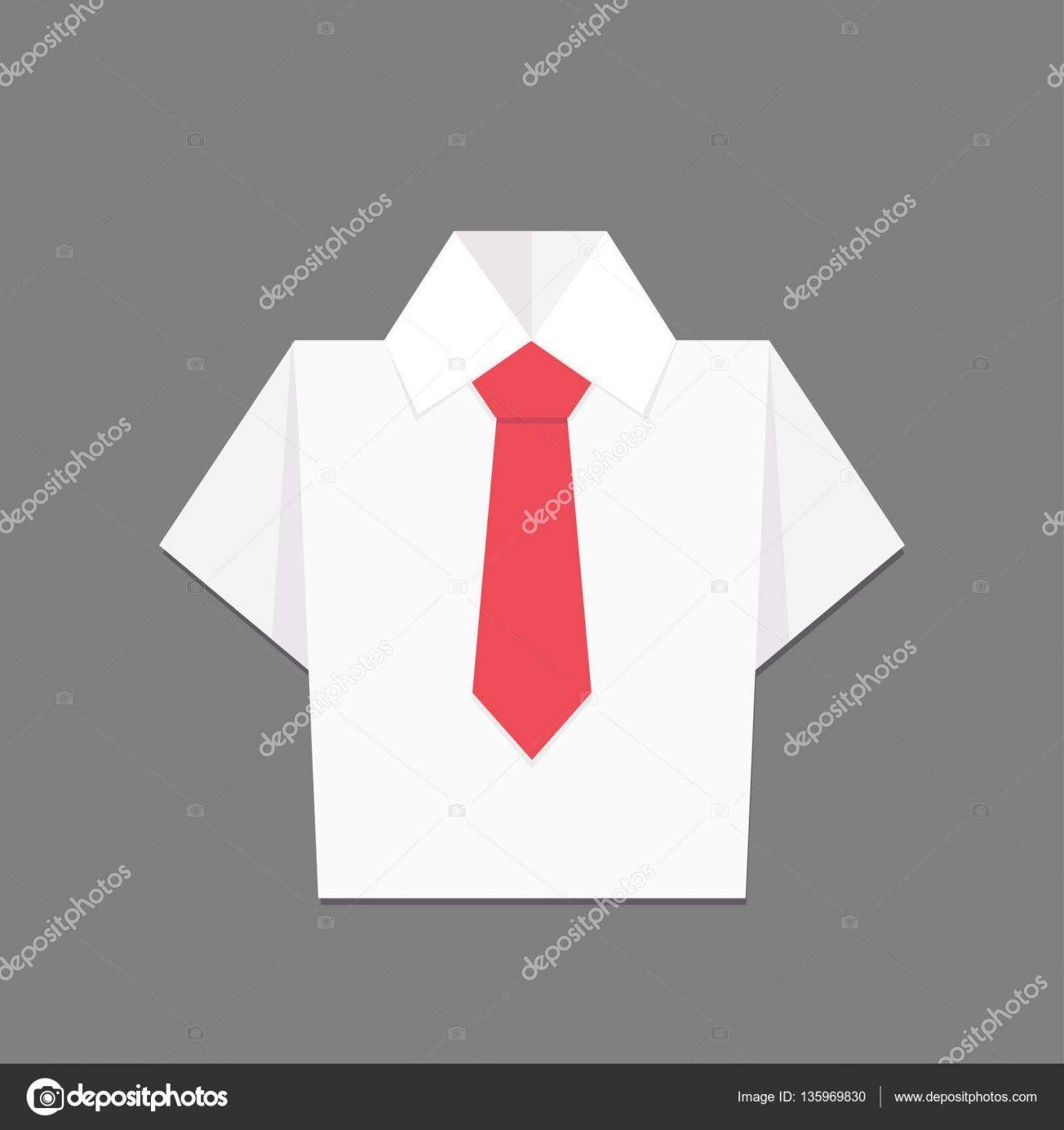Hemd Mit Krawatte Origami Vektordesign — Stockvektor von Origami Hemd Mit Krawatte Photo