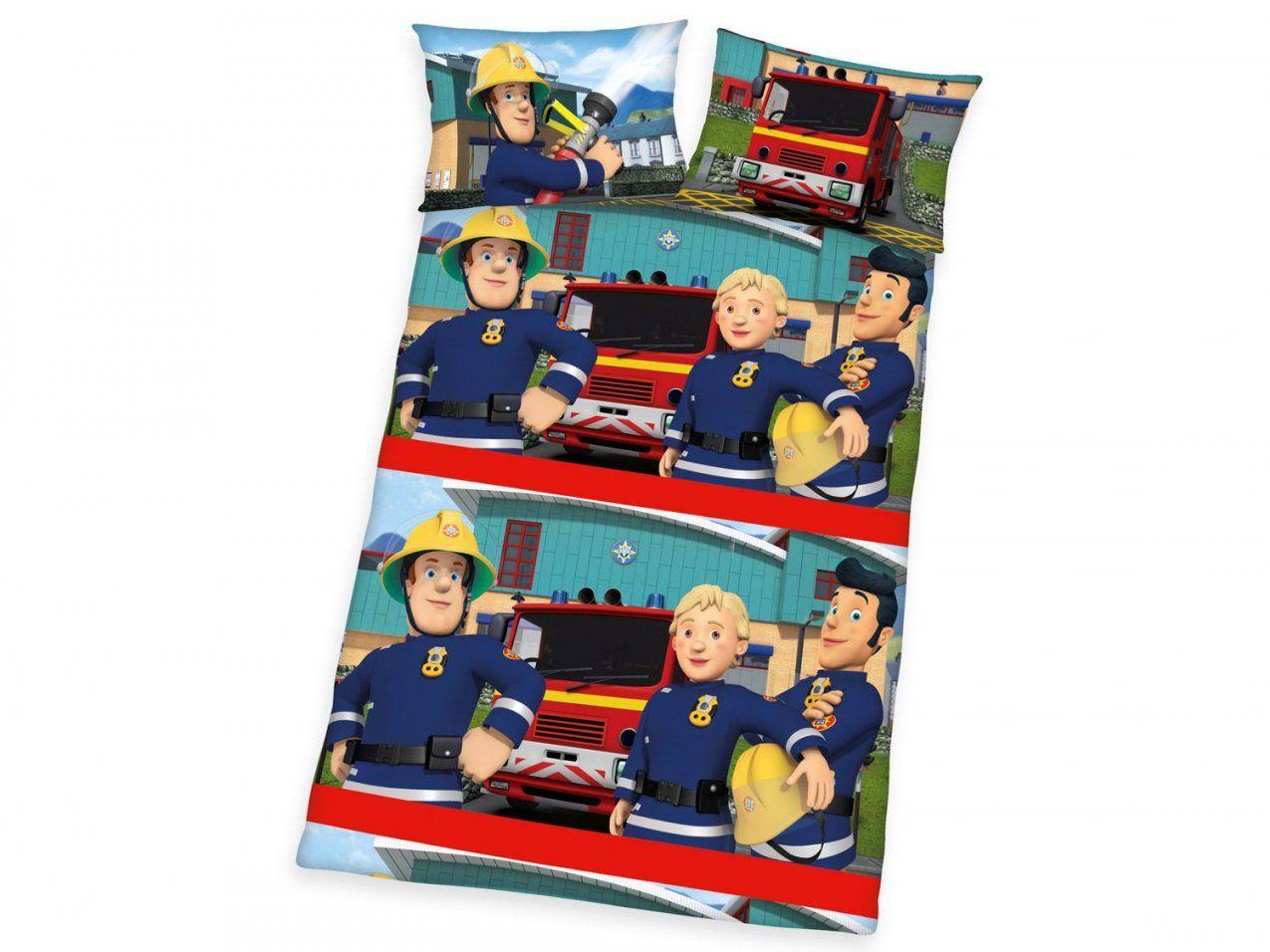 Herding Baby  Kleinkinder Linonbettwäsche Feuerwehrmann Sam von Feuerwehrmann Sam Bettwäsche Lidl Bild