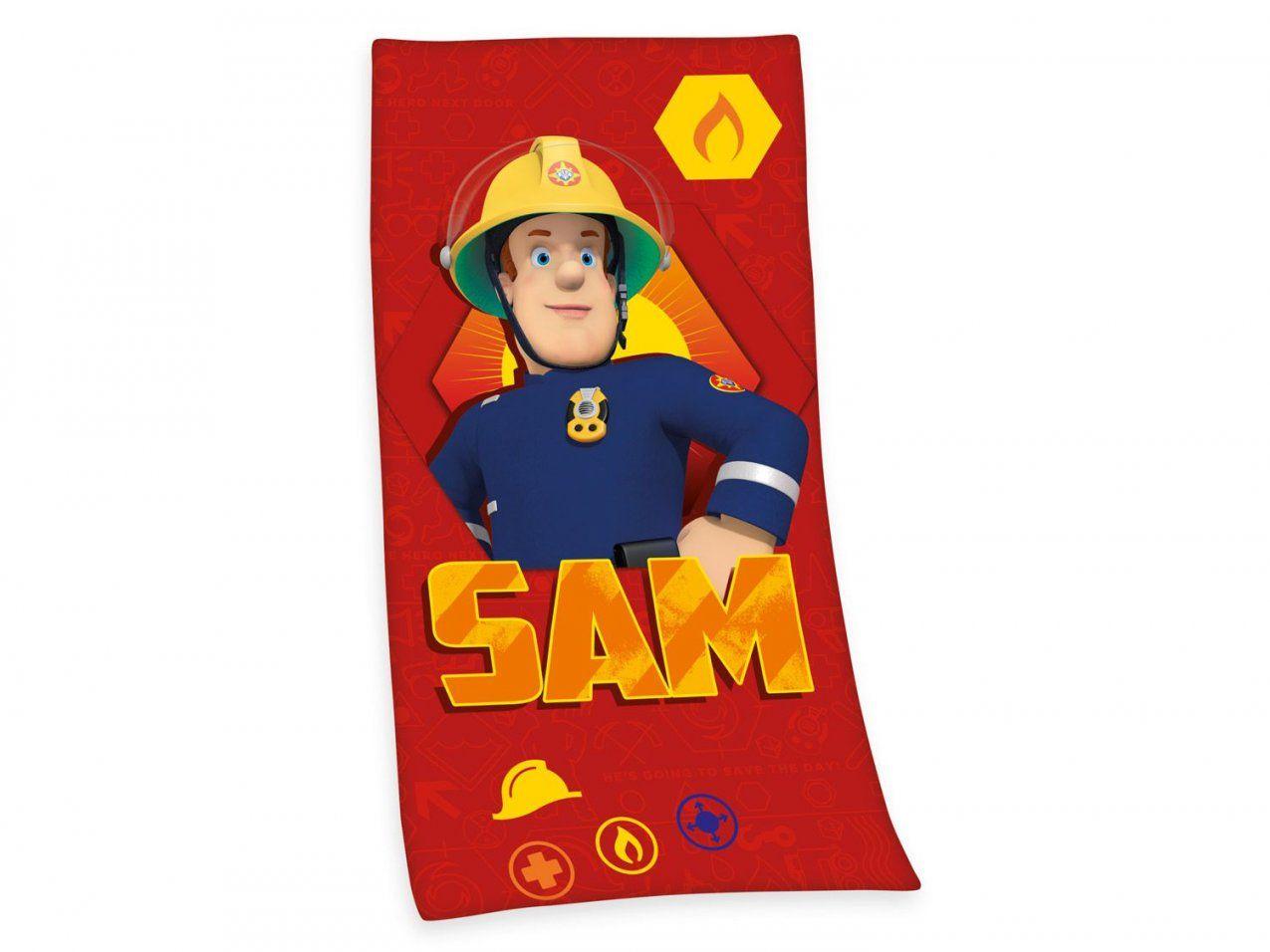 Herding Velourstuch Feuerwehrmann Sam 75 X 150 Cm  Lidl von Feuerwehrmann Sam Bettwäsche Lidl Photo