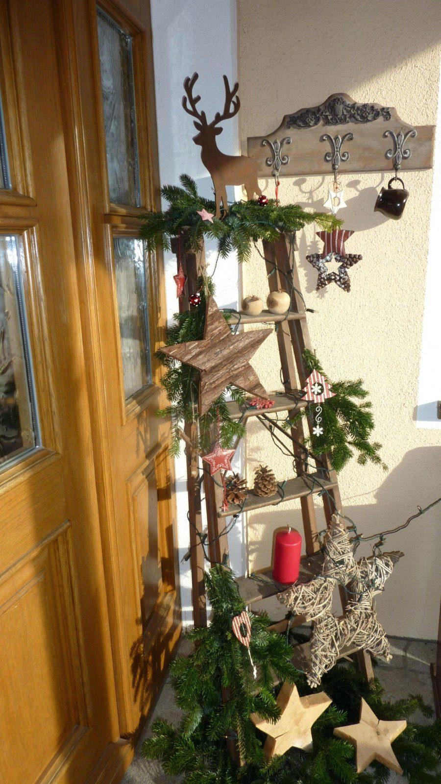 Herrlich Weihnachtsdeko Ideen Für Draußen Aussen Skandinavische von Weihnachtsdeko Aussen Selber Basteln Photo