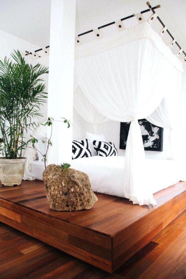 Himmelbett Vorhang Himmelbett Weia Lackiert Mit Marokko Vorhang von Himmelbett Vorhang Selber Machen Bild