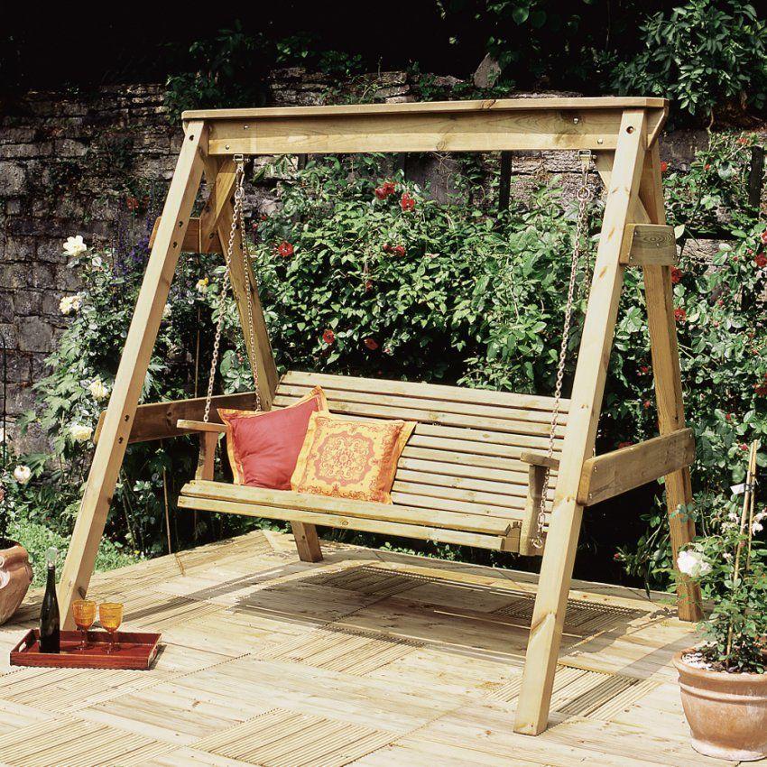 Hollywoodschaukel Als Designergartenmöbel von Gartenschaukel Selber Bauen Anleitung Bild