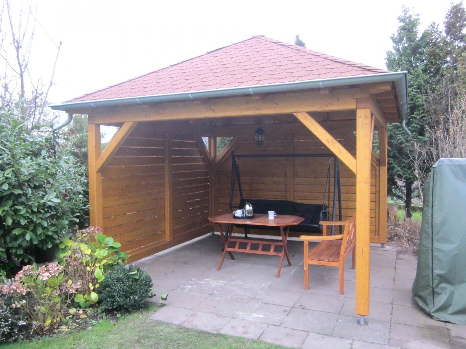 Holz Gartenpavillon Pavillon Aus Selber Bauen Bauanleitung Bauplan von Pavillon Holz Selber Bauen Bild