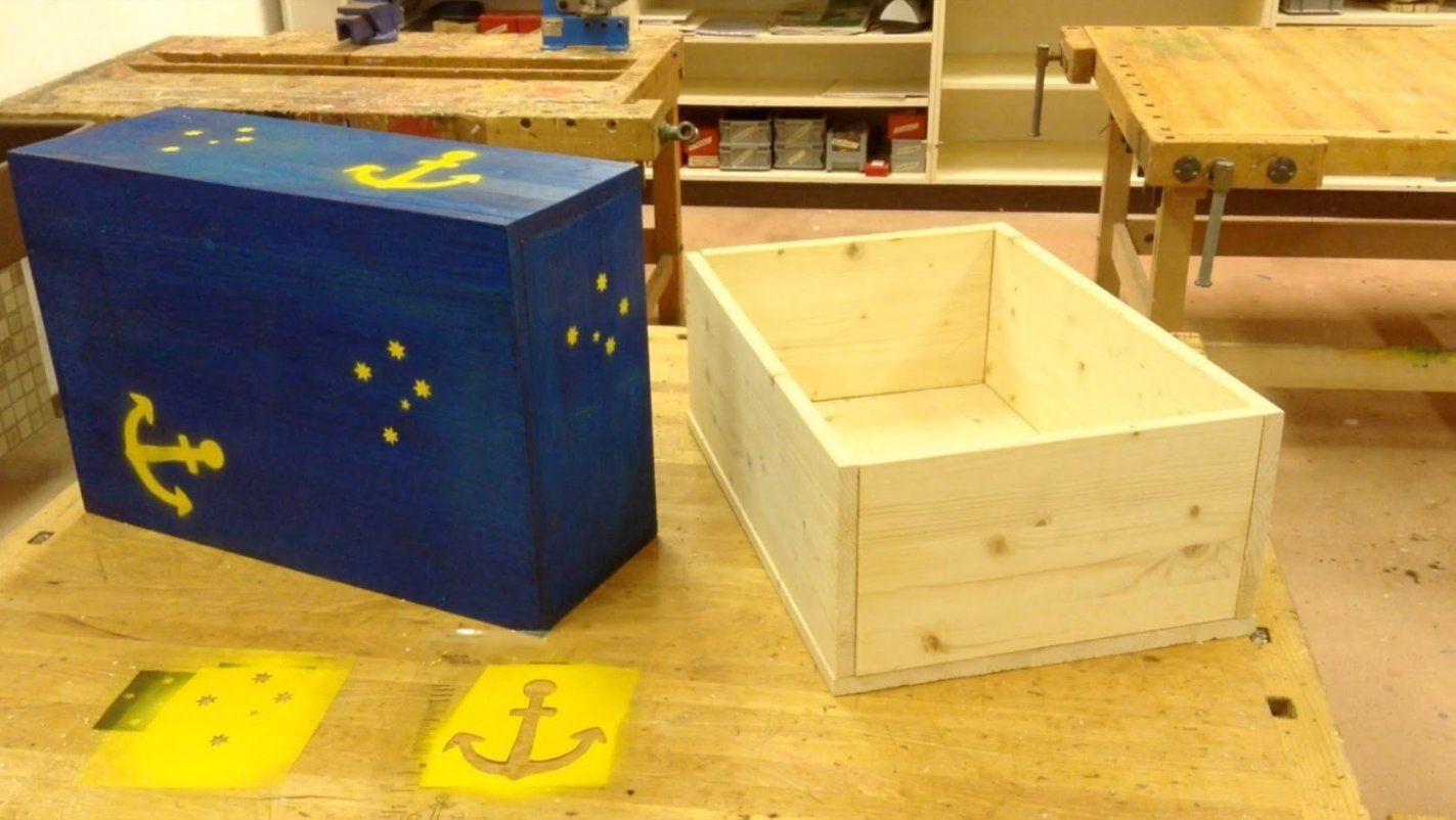 Holzkiste Bauen  Eine Einfach Kiste Aus Holz Selbst Herstellen von Holztruhe Selber Bauen Anleitung Photo