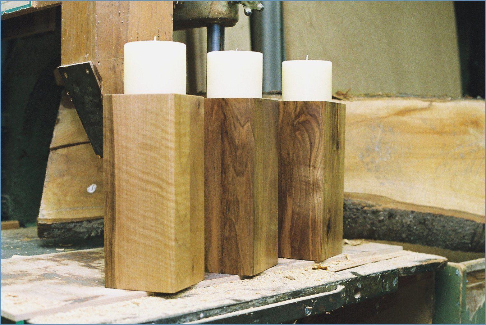 Holzscheiben Deko Selber Machen Mit Ideen Aus Holz Zum Selber Machen von Holz Kerzenständer Selber Machen Bild
