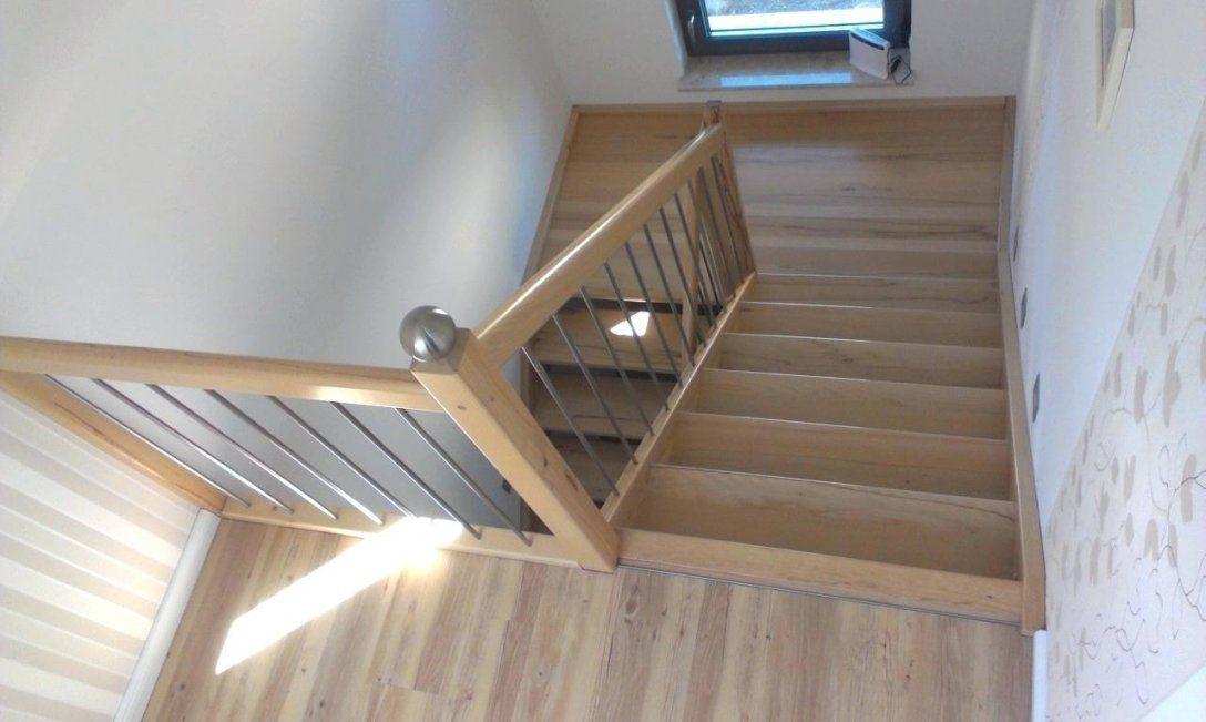Holztreppe Eingestemmt Kernbuche Mit Podest Endlackiert Gs Es Kugel von Holztreppe Streichen Ohne Abschleifen Photo