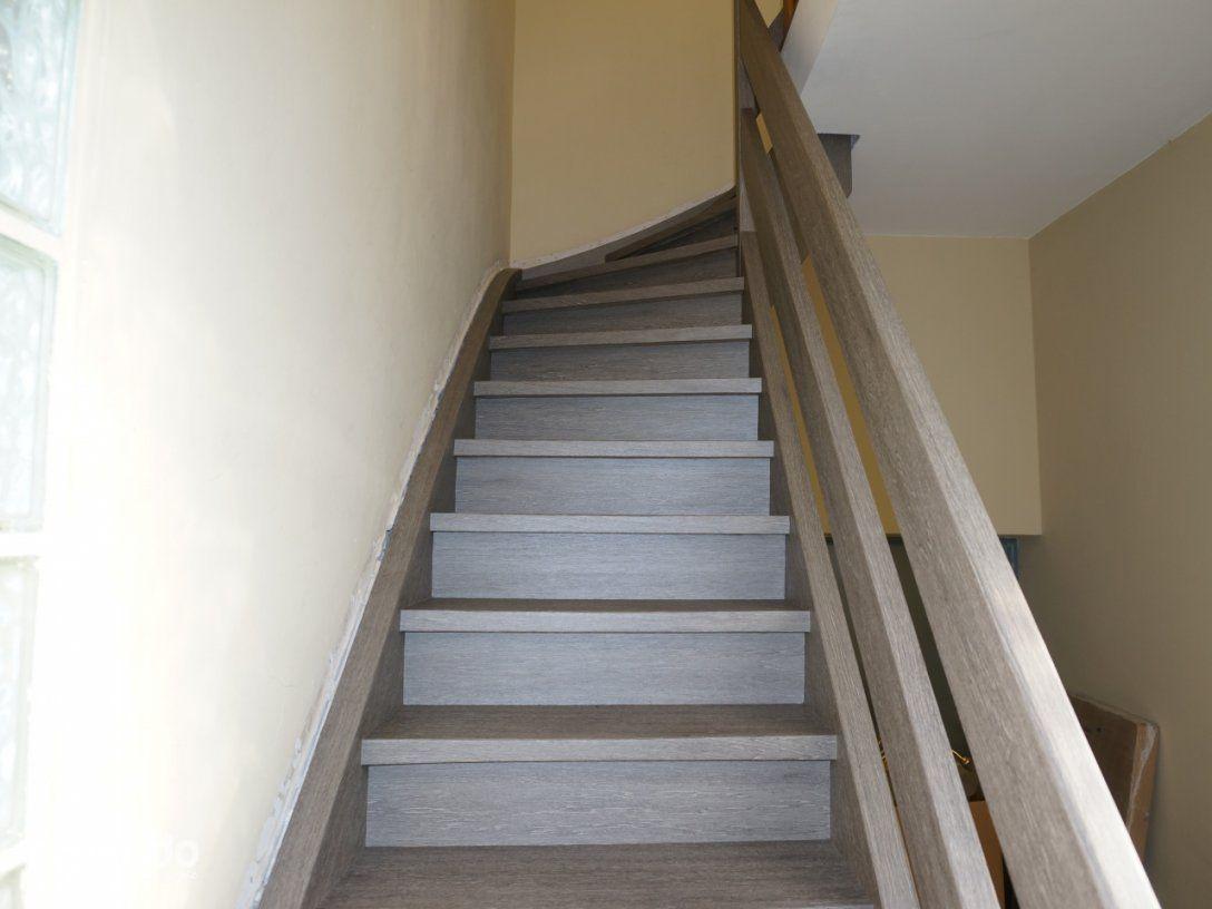 Holztreppe  Klebefolie  Grau  Resimdo von Treppe Streichen Welche Farbe Bild