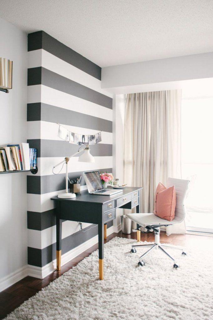 Ideen Für Wandstreifen  Ein Beliebtes Designelement Zuhause von Streifen An Der Wand Photo