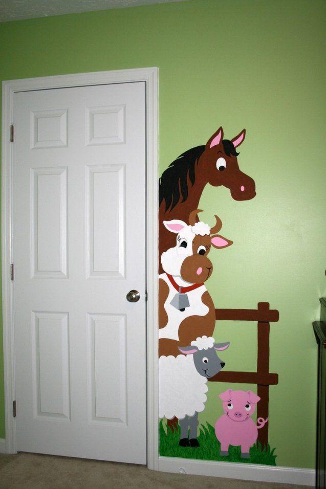 Ideen Wandgestaltung Mit Farbe Handgemalte Motive von Wandgestaltung Kinderzimmer Mit Farbe Bild