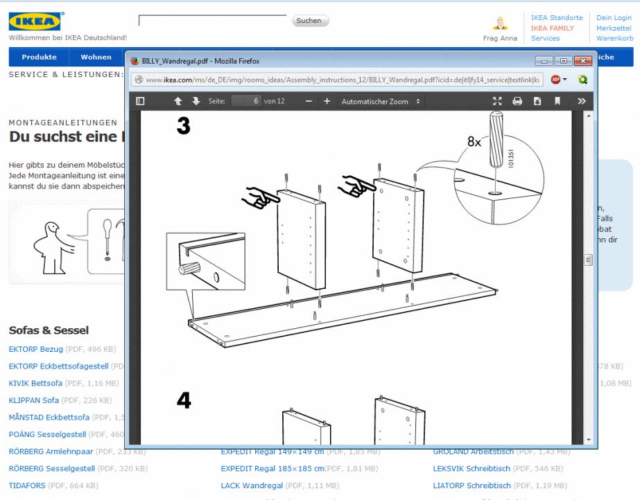 Ikea Küche Anleitung von Ikea Billy Regal Anleitung Bild