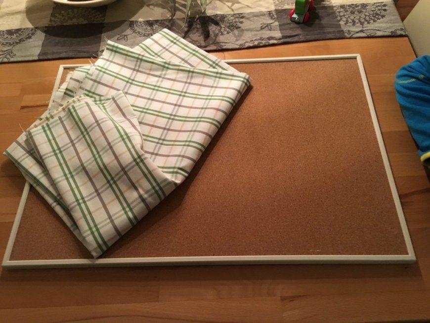 Ikea Väggis  Pinnwand Mit Stoff Bespannen  Diy Anleitung von Pinnwand Mit Stoff Beziehen Photo