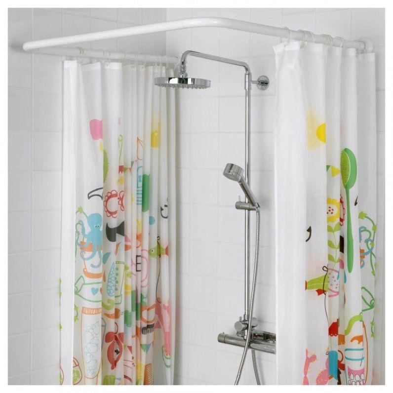 Innenarchitektur  Vikarn Duschvorhangstange Ikea Innerhalb Von von Duschvorhang Halterung Für Badewanne Bild
