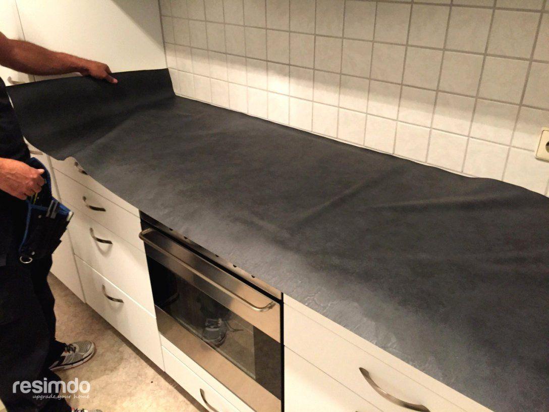Intelligente Inspiration Arbeitsplatte Bekleben Küche Und von Arbeitsplatte Mit Folie Bekleben Photo