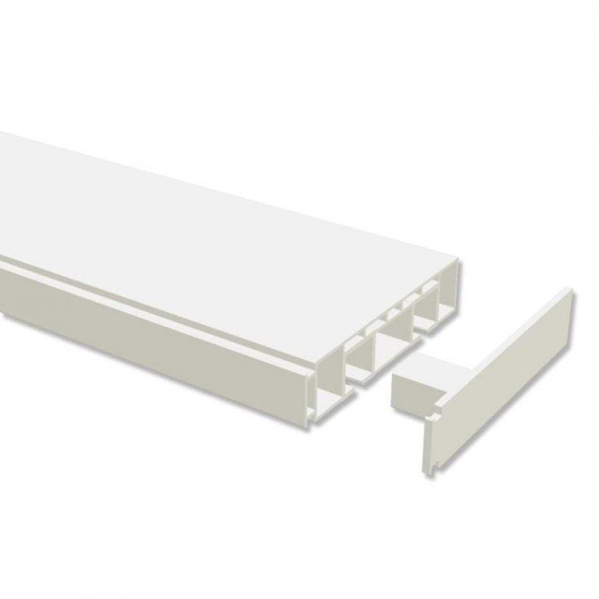 Interdeco Gardinenschiene Vorhangschiene Kunststoff  Real von Vorhangschiene Alu 2 Läufig Bild