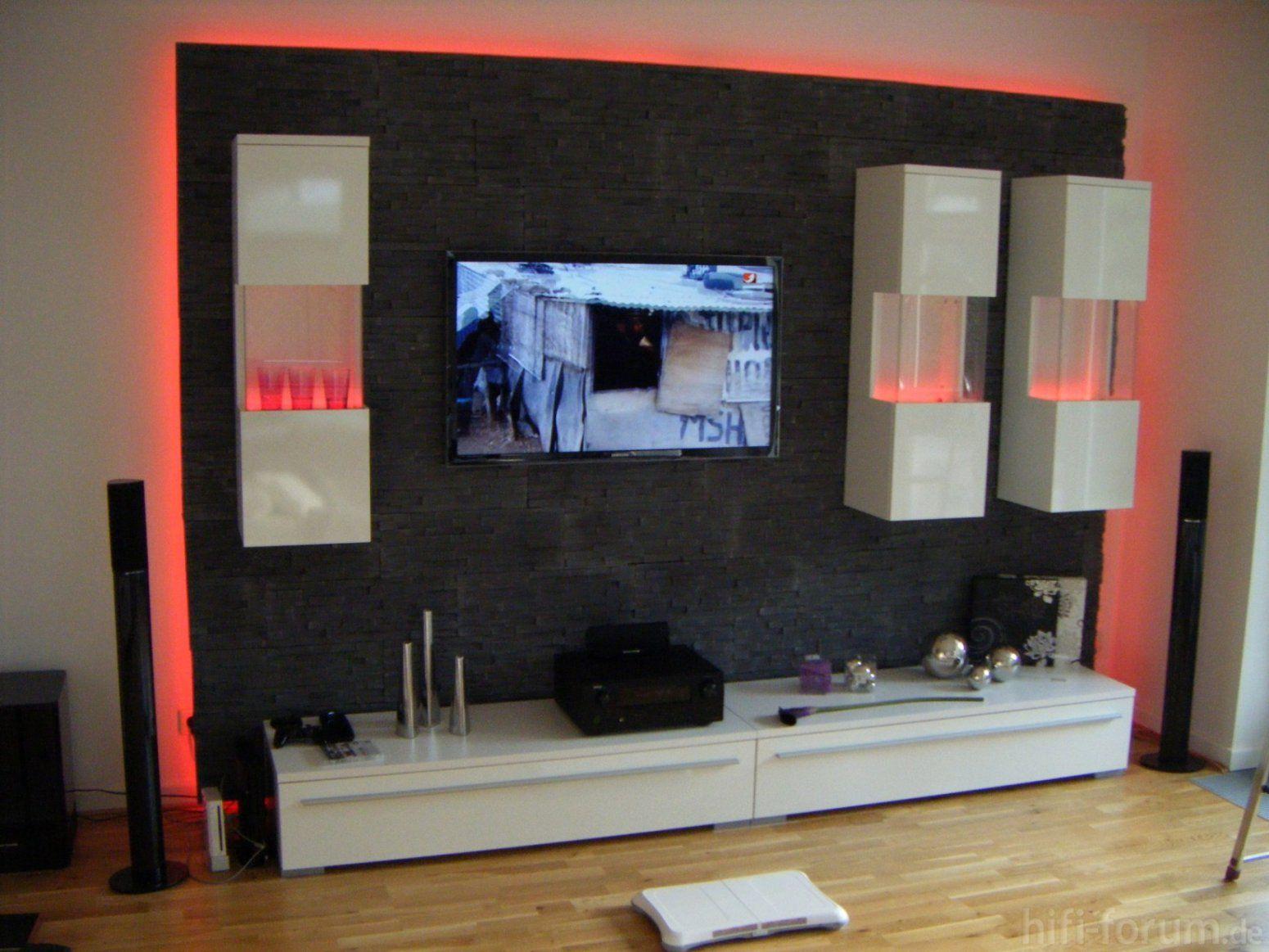 Interessant Tv Wand Selber Bauen Ideen Für Steinwand Schlafzimmer von Fernseher Wand Selber Bauen Bild