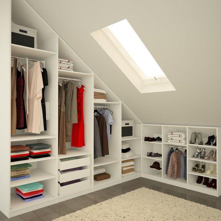 Interior Design Ideas Redecorating & Remodeling Photos  Dressing von Ikea Schrank Für Schräge Bild