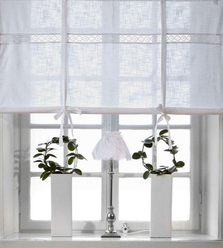 Julia Weiss Raffrollo 160X120Cm Vorhang Raffgardine Landhaus Shabby von Gardinen Im Shabby Look Photo