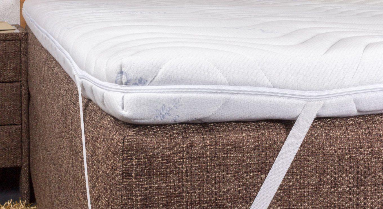 Kaltschaumtopper Fest Mit Milbendichtem Bezug  Betten von Welcher Topper Bei Rückenschmerzen Photo