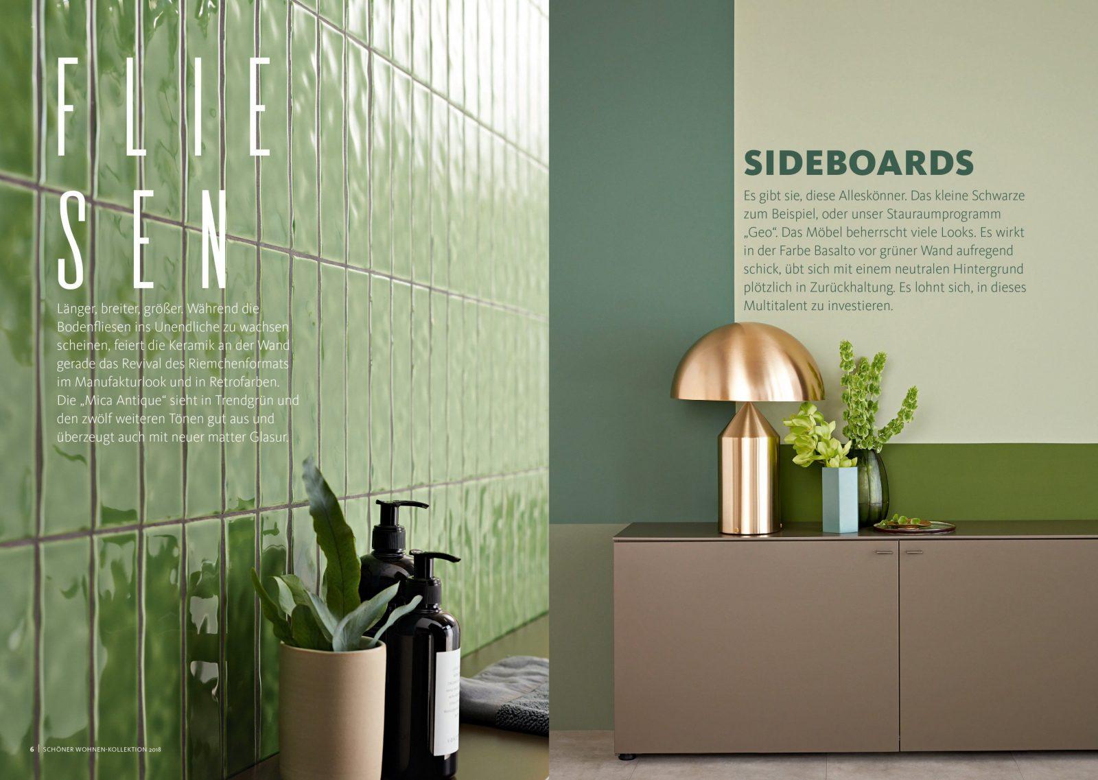 Katalog  Schöner Wohnen Kollektion von Schöner Wohnen Farbe Grün Bild