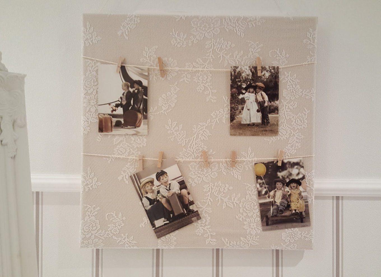 Keilrahmen Selber Gestalten Mit Bastelqueen Pinnwand Selbst von Pinnwand Mit Stoff Beziehen Bild