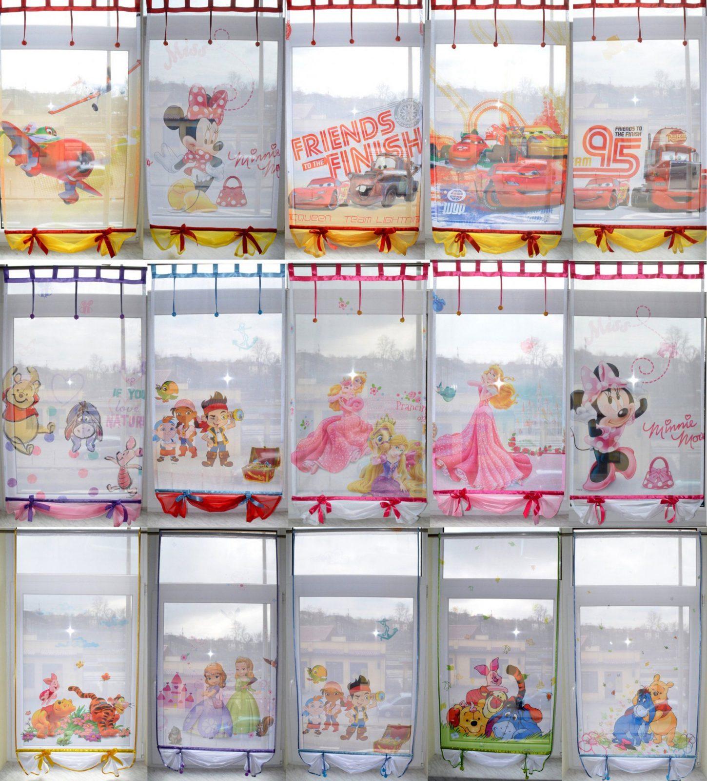 Kindergardine Disney Frozen Eiskönigin Elsa Anna Gardine Gardine von Anna Und Elsa Gardinen Bild